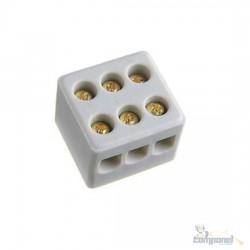 Conector Sindal Porcelana 3 Polos 10mm